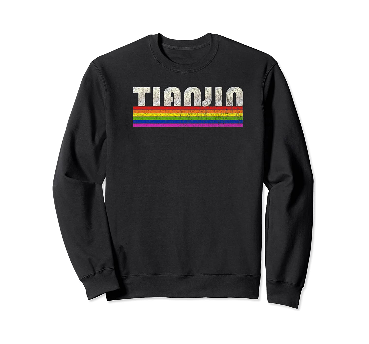 Vintage 80's Style Tianjin Gay Pride Month Shirts Crewneck Sweater