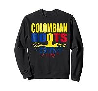 Storecastle Colombian Roots Colombia Flag Pride Shirts Sweatshirt Black