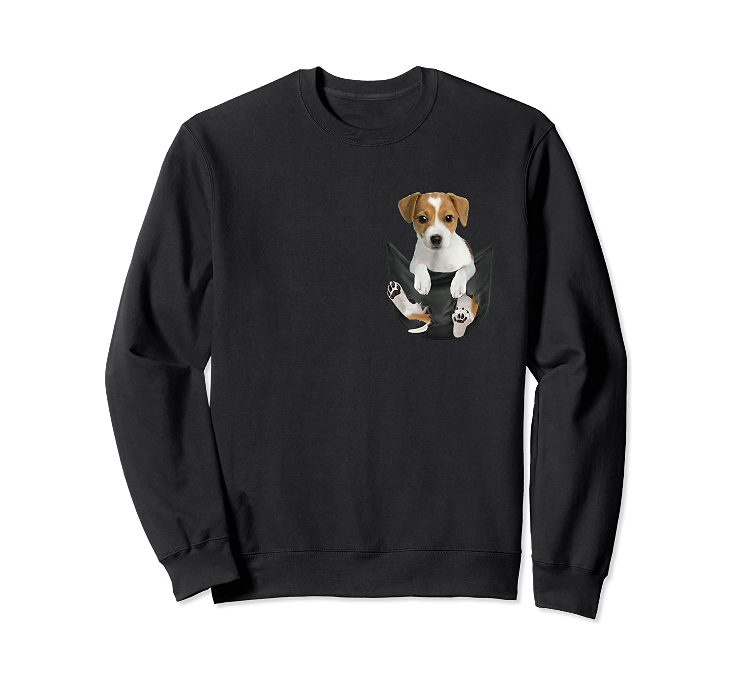 Jack Russell In Pocket Hot Trend Shirts Crewneck Sweater