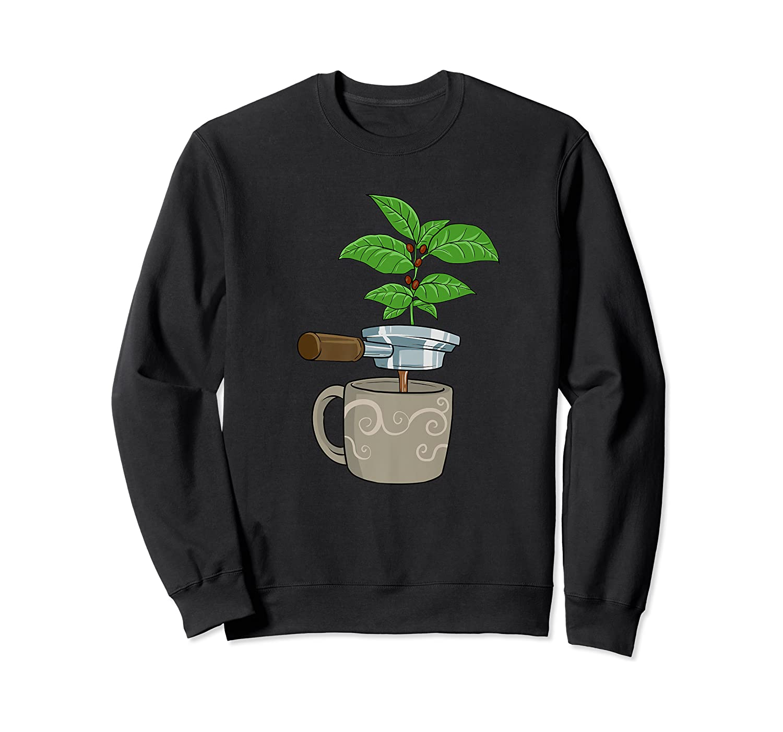 Coffee Plant Espresso Machine For Coffee Drinker Shirts Crewneck Sweater