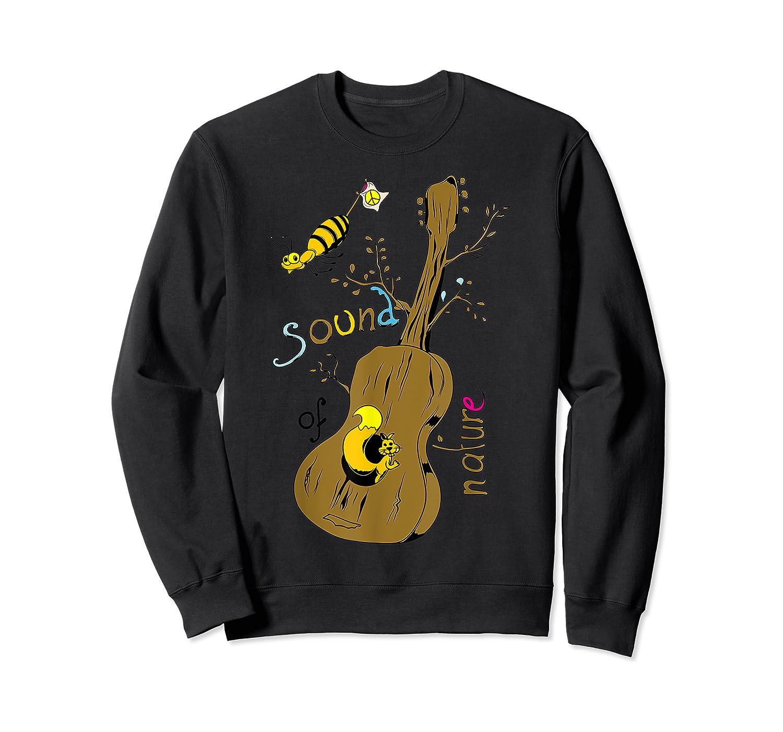 The Sound Of Guitar Tree Nature Shirts Crewneck Sweater