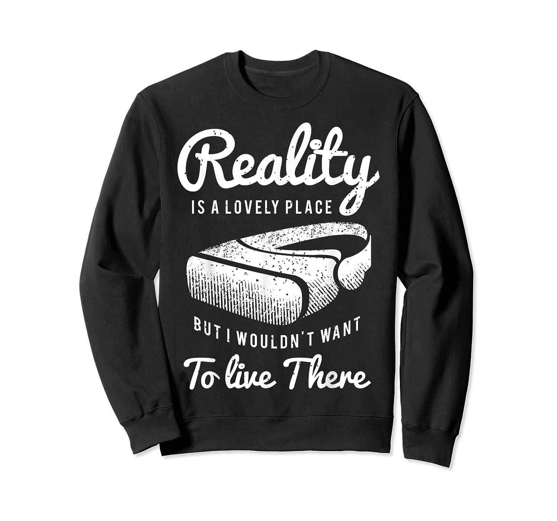 Virtual Reality Hmd Interactive Game Vr Headset Shirts Crewneck Sweater