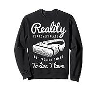 Virtual Reality Hmd Interactive Game Vr Headset Shirts Sweatshirt Black