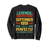 Legends Were Born In September 1991 29th Birthday Gifts Shirts Sweatshirt Black