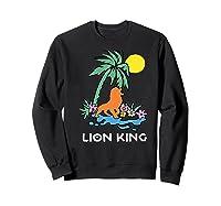 The Lion King Simba Spring Palm Tree Shirts Sweatshirt Black