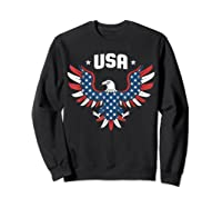 Patriotic American Flag Bald Eagle Usa T Shirt  Sweatshirt Black