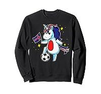 Soccer Unicorn Iceland Design Iceland Football Gift Shirts Sweatshirt Black