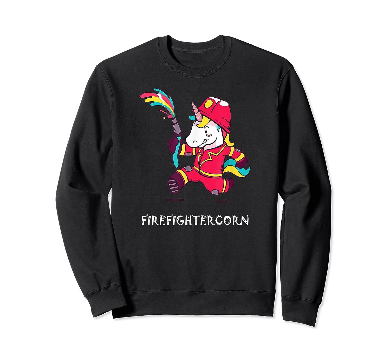 Firefightercorn Funny Unicorn As Firefighter Shirts Crewneck Sweater