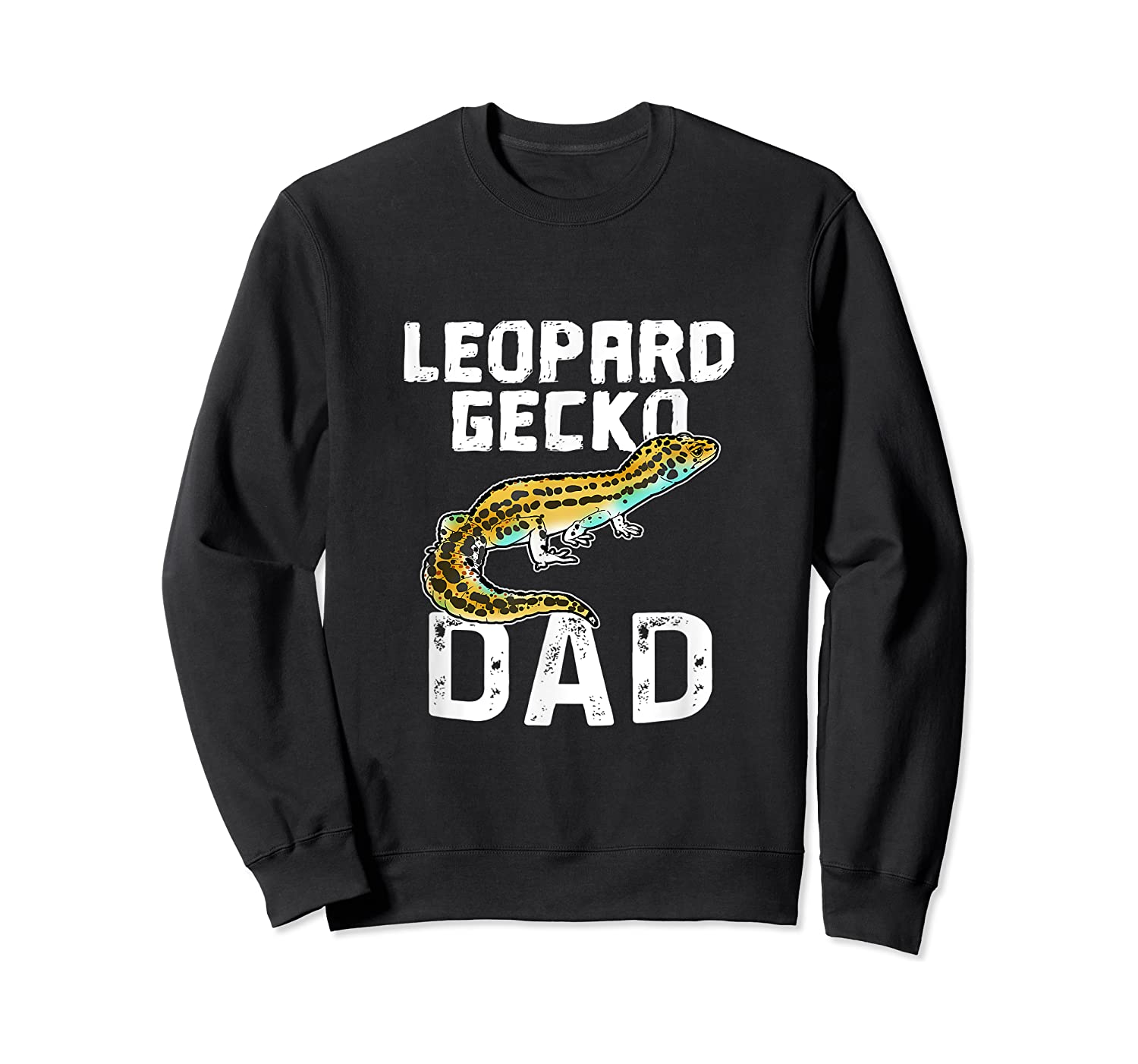 Funny Leopard Gecko Graphic Lizard Lover Reptile Dad Gift T-shirt Crewneck Sweater