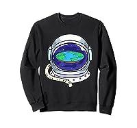 Flat Earth Map Design For A Flat Earth Society Shirts Sweatshirt Black