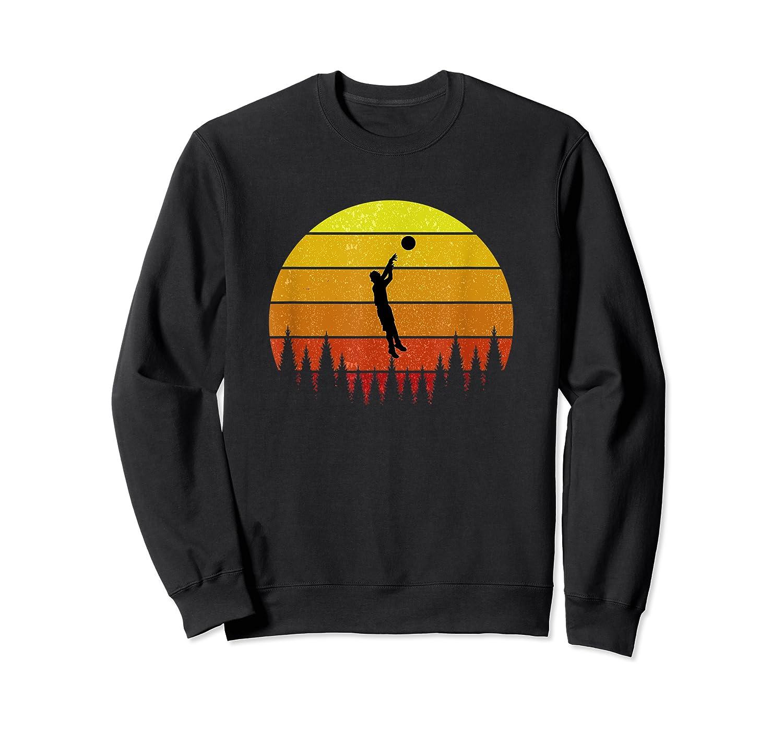 Basketball Coach Jump Shot Retro Vintage Sunset Shirts Crewneck Sweater