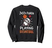 Basketball Panda Premium T-shirt Sweatshirt Black