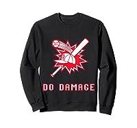 Done Damage Red Boston Championship Baseball Fan Awesome T-shirt Sweatshirt Black