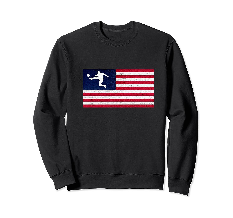 Soccer Us Flag American Football Gift Shirts Crewneck Sweater