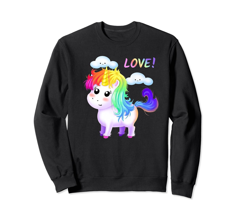 Unicorn Lgbt Gift Rainbow Gay & Lesbian Love Sweet Premium T-shirt Crewneck Sweater