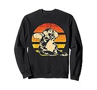 Retro French Bulldog T-shirt Gift Sweatshirt Black