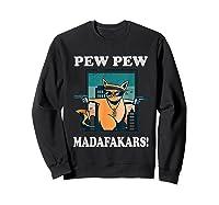 Cat Madafakas Vintage Crazy Cat Funny Graphic Shirts Sweatshirt Black