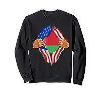 Belarusian Blood Inside Me Belarus Flag Gift Shirts Sweatshirt Black