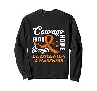 Leukemia Awareness Warrior Wear Orange Hope Gifts Shirts Sweatshirt Black