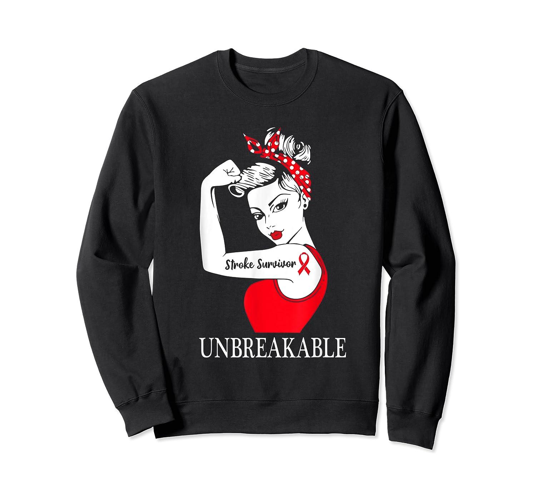 Stroke Survivor Unbreakable Strong Shirts Crewneck Sweater