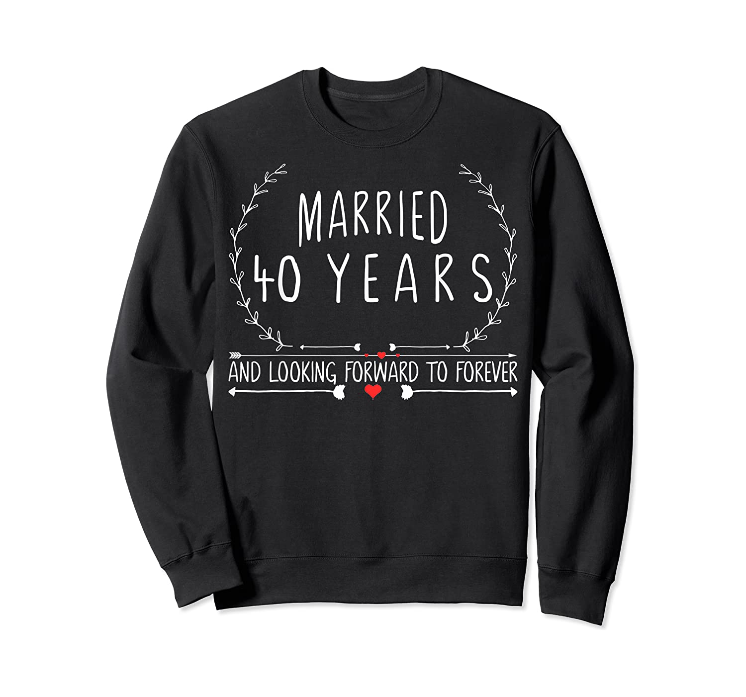 Wedding Anniversary 40th Gifts For Her Him Couples Shirts Crewneck Sweater