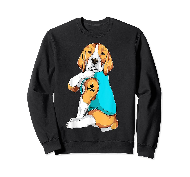 Beagle I Love Mom Apparel, Dog Mom Gifts Shirts Crewneck Sweater