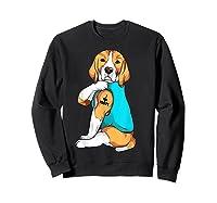 Beagle I Love Mom Apparel, Dog Mom Gifts Shirts Sweatshirt Black