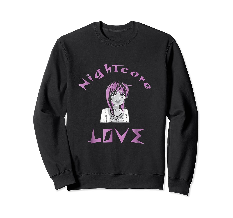 Nightcore Love Music Japanese Anime Purple Hair Shirts Crewneck Sweater