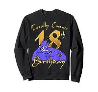 Disney Aladdin Genie Totally Cosmic 18th Birthday T-shirt Sweatshirt Black