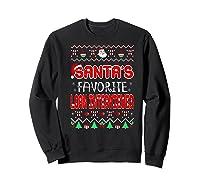 Santas Favorite Loan Interviewer Christmas Ugly Sweater Shirts Sweatshirt Black