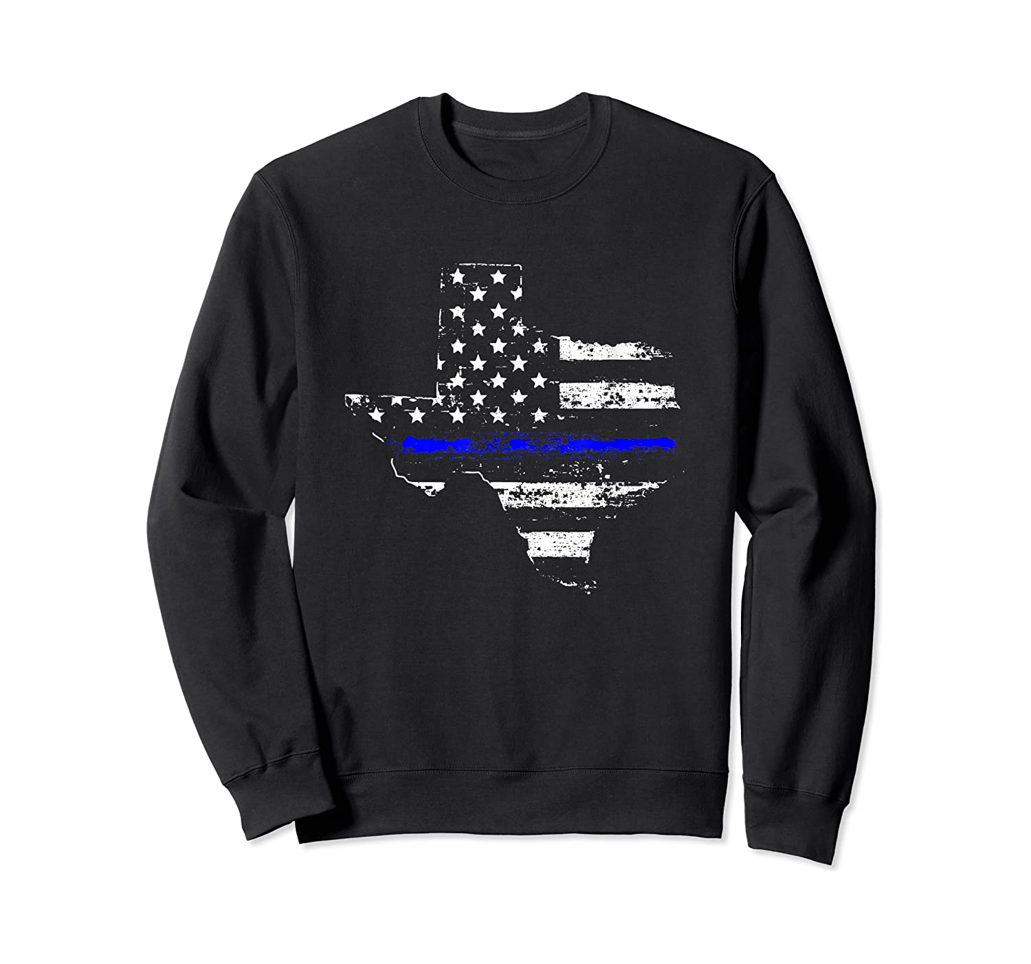 Texas Back The Blue Support Thin Blue Line Shirts Crewneck Sweater