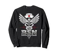 Gift For Bachelor Nurse Nurses Nursing Stay Strong T-shirt Sweatshirt Black
