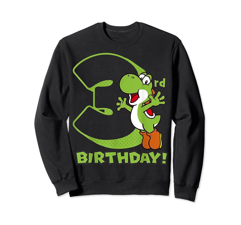Super Mario Yoshi 3rd Birthday Action Portrait T-shirt Crewneck Sweater