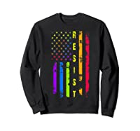 Pride Lgbt Colorful Flag Rainbow Shirts Sweatshirt Black