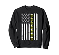 Funny Oktoberfes American Flag Beer Pretzel Shirts Sweatshirt Black