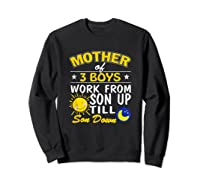 Mother's Day Mother Of 3 Shirts Sweatshirt Black