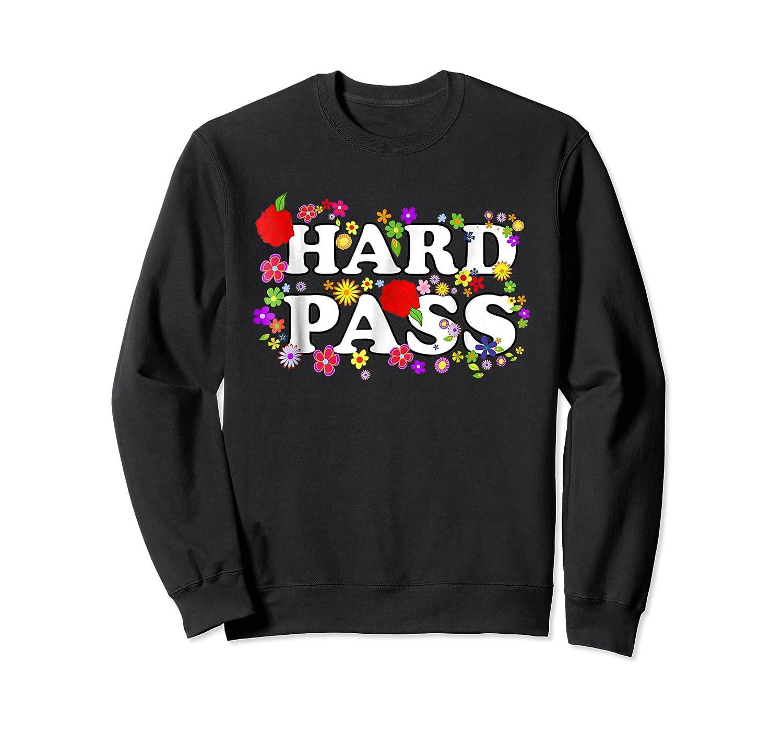 Hard Pass Floral Baseball Feminist Shirts Crewneck Sweater