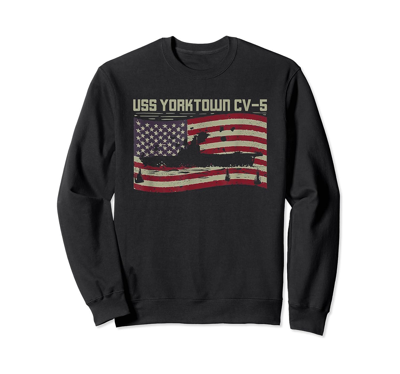 Uss Yorktown Cv-5 Gift For A Us Military Veteran T-shirt Crewneck Sweater