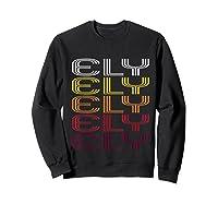 Ely, Nv Vintage Style Nevada Shirts Sweatshirt Black