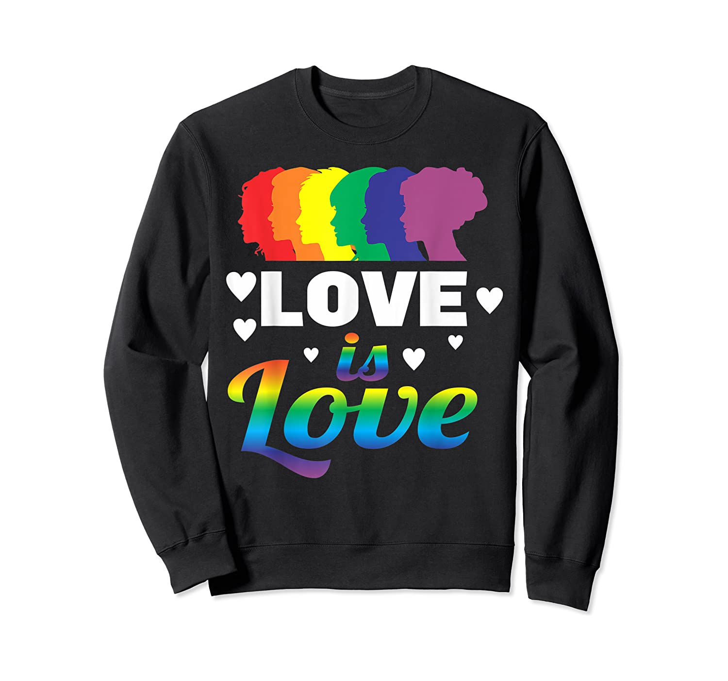 Colorful Pride Love Lgbt Suppor Gifts Love Is Love Shirts Crewneck Sweater