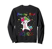 Eletary School Rocks Dabbing Unicorn Back To School Gifts T-shirt Sweatshirt Black