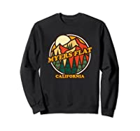 Vintage Myers Flat California Mountain Hiking Souvenir Print T-shirt Sweatshirt Black