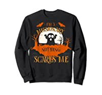 Missionary Nothing Scares Me Funny Halloween T-shirt Sweatshirt Black