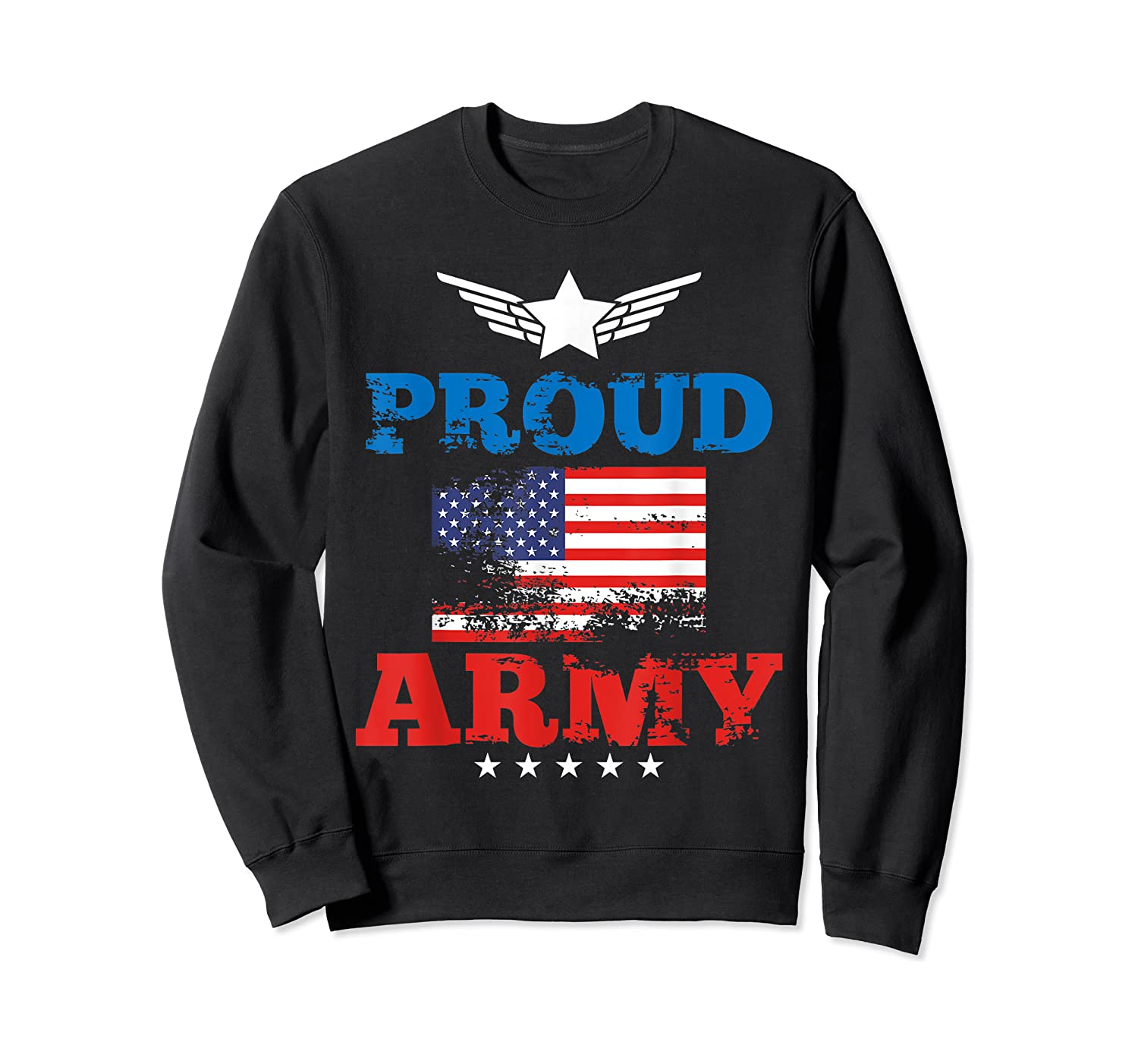 Proud Army American Soldier Air Flag Honor Gift T-shirt Crewneck Sweater