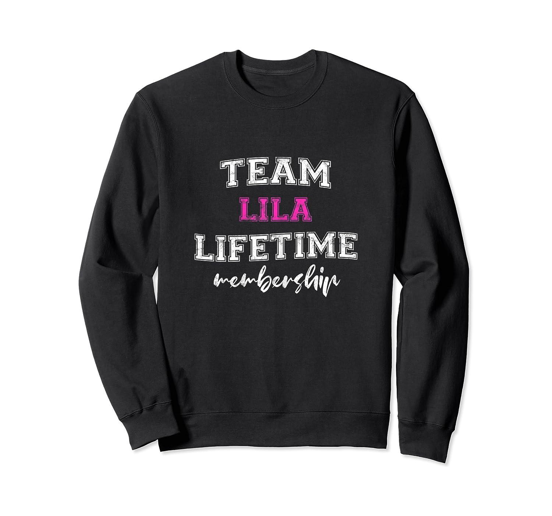 Team Lila Bride Squad Custom Bachelorette Party Wedding Shirts Crewneck Sweater