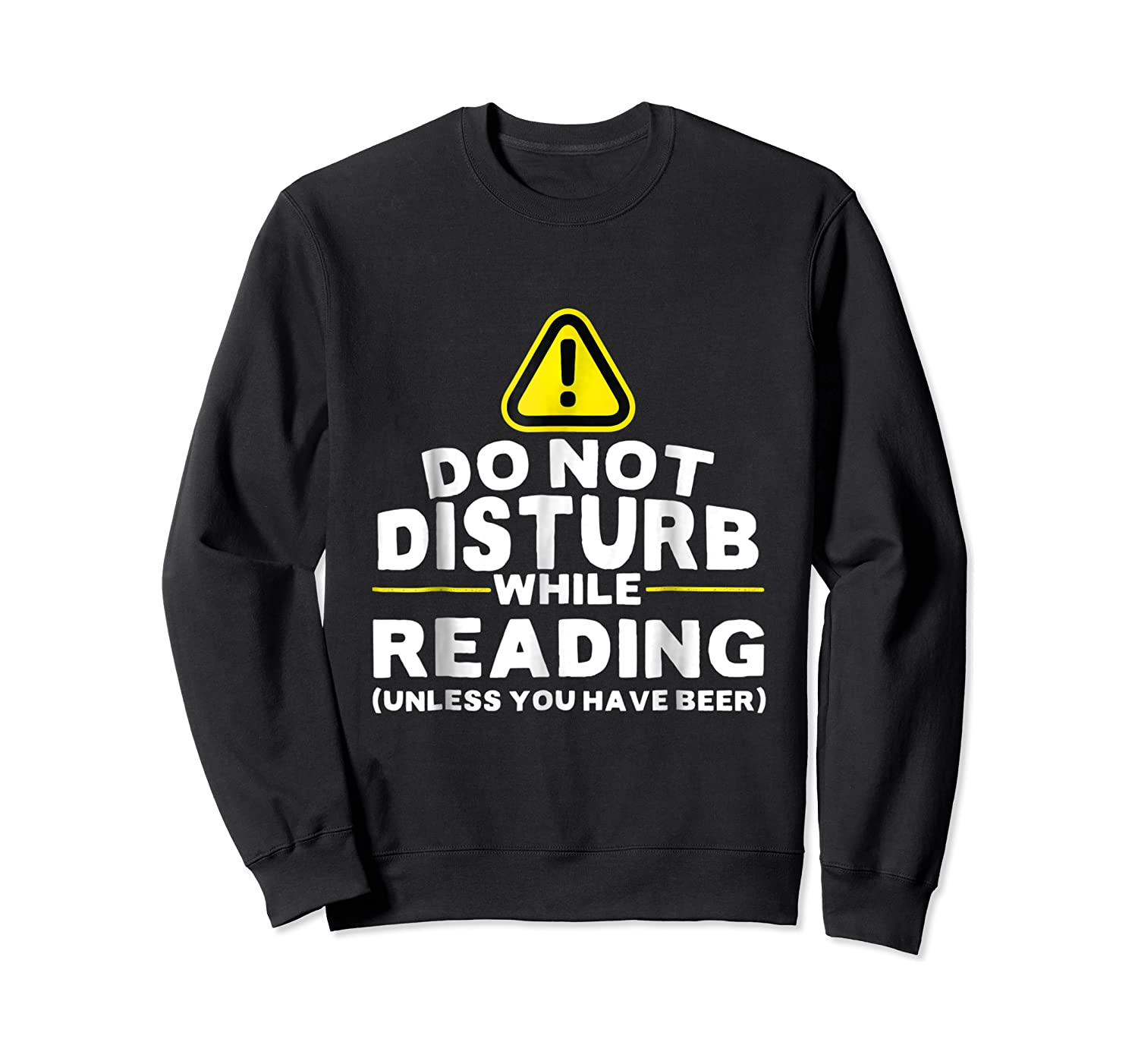 Drinking Beer Lovers Funny Book Reading T-shirt Crewneck Sweater
