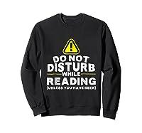 Drinking Beer Lovers Funny Book Reading T-shirt Sweatshirt Black