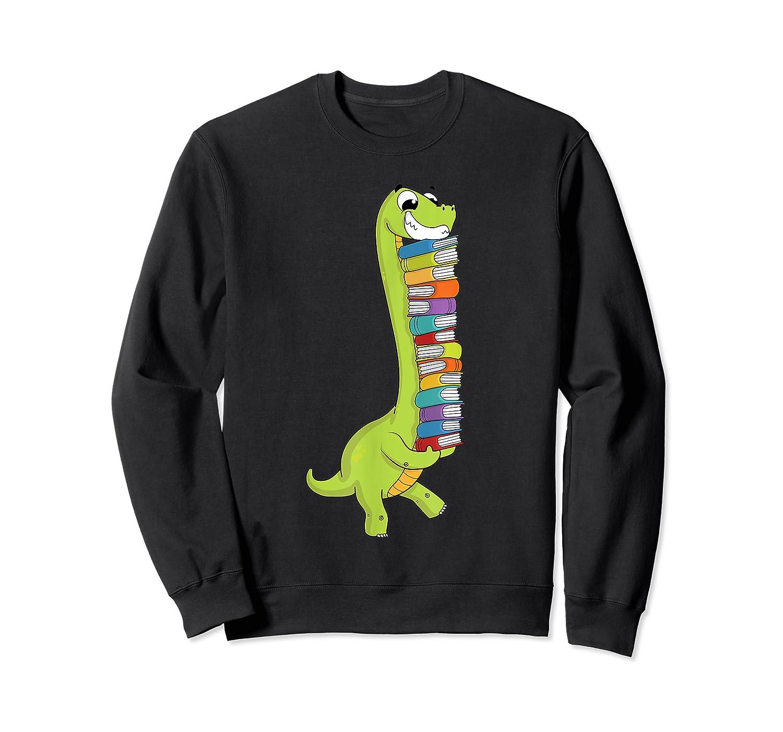 Teasaurus Dinosaur Tea Dino Reading Book Shirts Crewneck Sweater