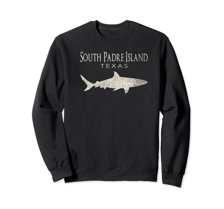 Retro South Padre Island Tx Shark T-shirt Crewneck Sweater