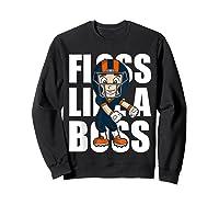 Floss Like A Boss Football Shirts Sweatshirt Black